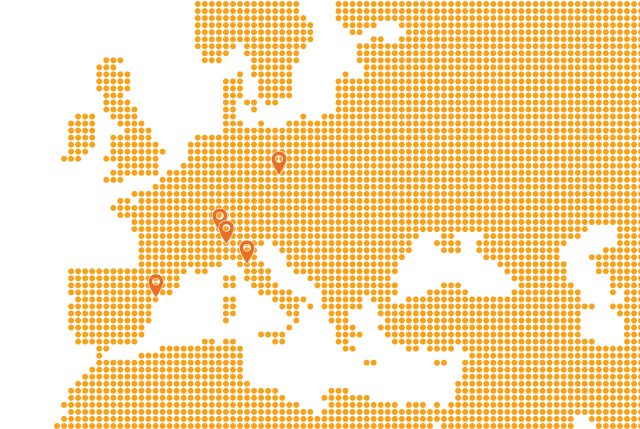 5 agencies in Europe