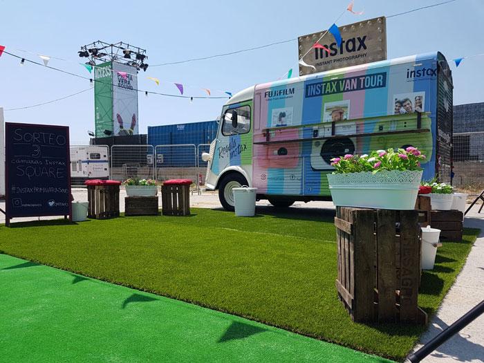 instax tour camion publicitario
